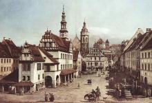 Das  Canaletto-Rathaus Pirna von Rainer Dierchen