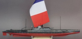 "Französischer Unterseekreuzer ""Surcouf"" von Sebsatian Nemitz Hobby Boss 1/350"